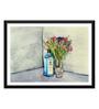 Tallenge Paper 24 x 0.5 x 17 Inch Bombay Sapphire Artwork Framed Digital Poster