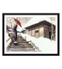 Tallenge Paper 24 x 0.5 x 17 Inch Japanese Modern Art Anime Sayonara Framed Digital Poster