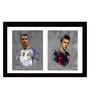 Tallenge Paper 24 x 0.5 x 18 Inch Spirit of Sports Messi Versus Ronaldo Framed Digital Poster