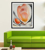 Tallenge Photographic Paper 18 x 1 x 24 Inch Modern Masters Collection Two Pink Shells by Georgia O'Keeffe Framed Digital Art Print