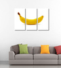 Tallenge Vinyl 36 x 0.5 x 24 Inch Banana Triptych Premium Quality Ready to Hang Framed Art Panels - Set of 3