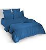 Tangerine Stripe 5000014 Blue Cotton King Bed Sheet Set
