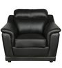 Tantor One Seater Sofa in Black Colour by HomeTown