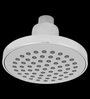 Taptree Silver ABS & Brass 4 x 4 Inch Round Single Flow Overhead Shower with Pipe