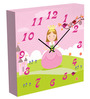 MimaArt Princess In Pink Square Wall Clock