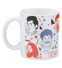 TBL Character Collage Designed 350 ML Coffee Mug in White Colour by Imagica
