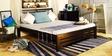 Dallas Queen Size Bed in Espresso Walnut Finish by Woodsworth