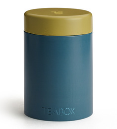 TeaBox Blue Cylindrical 100 ML Jar With Lid