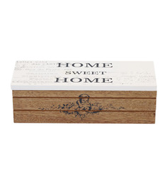 Tezerac Natural Wooden Sweet Home Small Storgae Box
