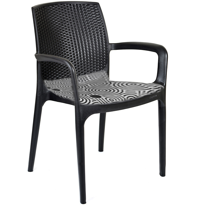 Texas Deluxe Arm Chair In Black Colour By Supreme By Supreme Online Stacking Chairs