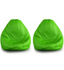 Teardrop Bean Bag Cover without Beans (Set of Two) in Red Colour by ExclusiveLane