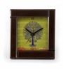The Elephant Company Warli Tree  Plastic Desk Clock