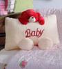 Novel Teddy Side Baby Pillow in Cream