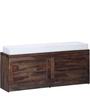 Winlock Shoe Rack with Seating  in Provincial Teak Finish by Woodsworth