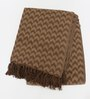 Tezerac Brown Cotton Throw