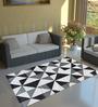 Tezerac Grey Cotton 71 x 47 Inch Geometric Rectangular Rauma Carpet