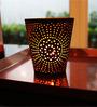 Tezerac Black & Gold Iron Votive Tea Light Holder - Set of 2