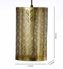 Cerro Ceiling Lamp in Gold by Bohemiana