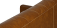 The Legend Three Seater Sofa in Brown Leatherette by Sofab
