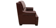 The Prince Three Seater Sofa in Dark Brown Leatherette by Sofab