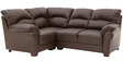 Three Seater Corner Sofa in Chocolate Brown Colour by Afydecor
