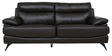 Three Seater Half Leather Sofa in Dark Brown Colour by Star India