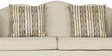 Three Seater Sofa in Ivory Grey Colour by Parin
