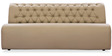 Three Seater Sofa with Tufted Back in Muslin Beige Colour by Durian
