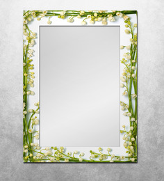 The Attic Green & White MDF Meadow Framed Mirror