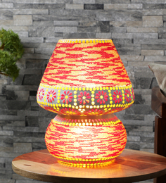 The Brighter Side Multicolor Glass Table Lamp - 1502320