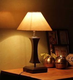 The Light House Flamingo Khadi Wood Table Lamp