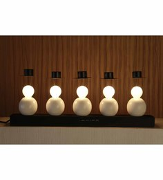 The Light Store White Wood Table Lamp - 1588314