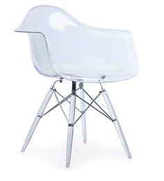 The Meyer Replica Chair in Clear Finish by HomeHQ