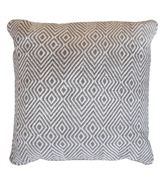 The Rug Republic Grey Cotton 18 x 18 Inch Martos Cushion Cover with Insert