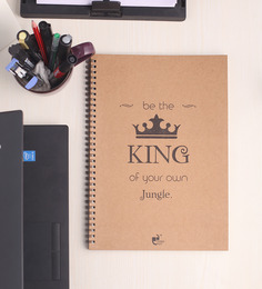 Thinkpot Be The King Of Your Own Jungle Sketchbook