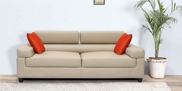 Three Seater Sofa In Cream Colour By Vittoria