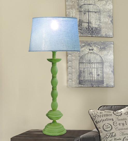 The Yellow Door Blue Cotton Table Lamp - 1533393