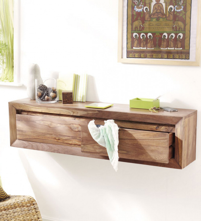 The attic millville brown wall shelf - Console murale suspendue ...