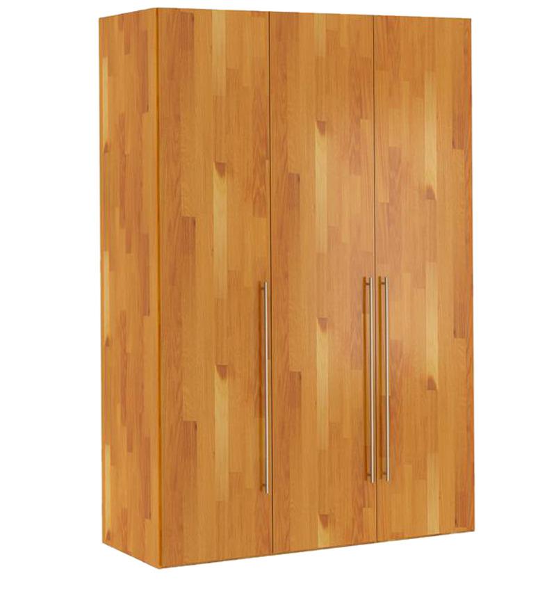 Buy kouki three door wardrobe in oak finish by mintwud for Wardrobe finishes