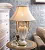 The 7Th Galaxy Beige Fabric Table Lamp