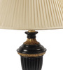 The 7th Galaxy Colonial Beige Gold Filling Black Wooden & Fabric Table Lamp