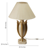 The 7th Galaxy Leaf Design Off-white Wood & Fabric Table Lamp