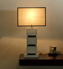 The 7th Galaxy Off White Parchment Shade Table Lamp