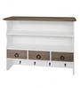 Africa Contemporary Wall Shelf in White by Amberville