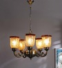 Macaria Chandelier in Gold by CasaCraft