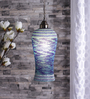Deftones Ceiling Lamp in White & Blue by Bohemiana