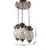 Shantha Ceiling Lamp in Silver by Mudramark