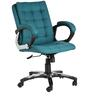 The Brillo Ergonomic Medium Back Chair in Ocean Green color by VJ Interior