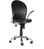 The Corona Low Back Task Chair in Black color by VJ Interior