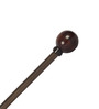 The Decor Mart Brown Wood 3.15 x 2.5 Inch Round Curtain Rod Set